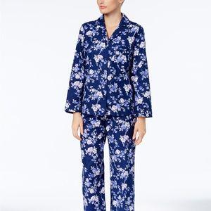 Charter Club Cotton Flannel 2PC PJ Set Blue
